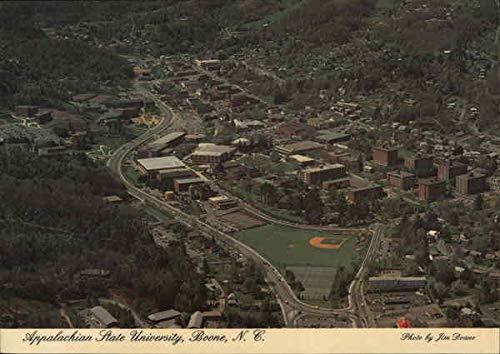 Appalachian State University - Aerial View Boone, North Carolina Original Vintage Postcard from CardCow Vintage Postcards