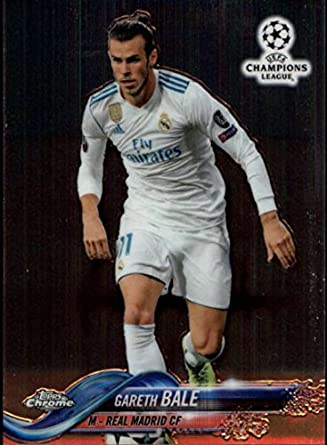 e993773af75 2018 Topps Chrome UEFA Champions League  75 Gareth Bale Real Madrid CF  Soccer Card