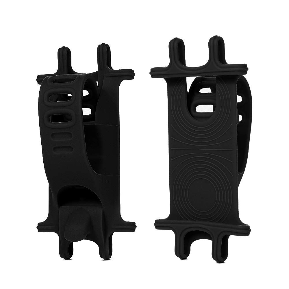 Bike Phone Mount, Stoon 360°Rotatable Universal Bicycle Phone Holder Adjustable Silicone Bike Motorcycle Handlebar Mount for iPhone Xs X 8 7 7 6s 6 Plus, Android Smartphones