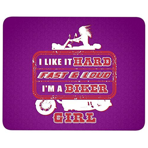 I'm A Biker Girl Mouse Pad, I Love Motorcycle great gift idea Mousepad (Mouse Pad - Purple)