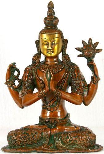 Chenrezig Shadakshari Lokeshvara – Brass Sculpture