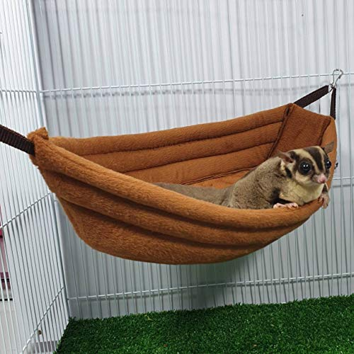 Brown Sugar Pet Store Sugar Glider, Hedgehog, Hamster, Squirrel, Chinchillas, Rabbit, Ferret, Bed Boat Pattern Light Brown Color ()