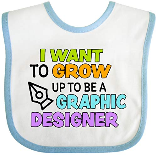 I Want To Grow up To Be a Graphic Designer Baby Bib