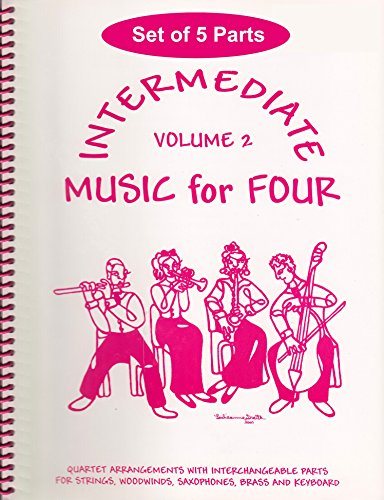 Intermediate Music for Four, Volume 2 - Set of 5 Parts for Piano Quintet (2 Violins, Viola, Cello, Piano) ()
