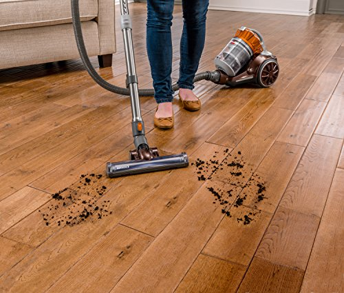 Bissell Hard Floor Expert Multi-Cyclonic Bagless Canister Vacuum - in use on hardwoods