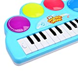 Kids-Piano-WOLFBUSH-Multi-function-3D-Electronic-Organ-Music-Keyboard-Piano-with-Flash-Light-Kids-Educational-Toy-Used-for-Family-Gatherings-Performances-Entertainment-Color-Random