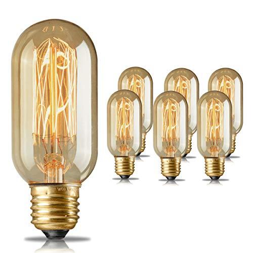 40w Vintage Retro Filament Edison Tungsten Light Bulb: Edison Light Bulbs,HESSION T45 40w Vintage Antique