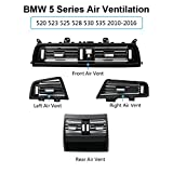 For BMW 5 Air Grille Kit,Jaronx High-end Metallic Texture Grille Interior Dashboard Console Central Air Vent Conditioning Heater AC Ventilation (Series 520 523 525 528 530 535 2010-2016)(Kit A)
