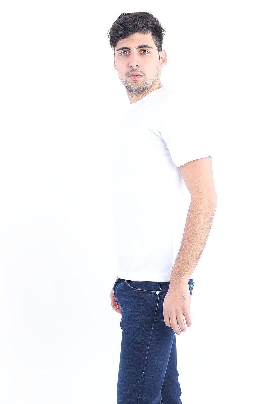 Aspesi White T-Shirt in Cotton with Pocket, Homme.  Amazon.fr  Vêtements et  accessoires 6a094132ee96