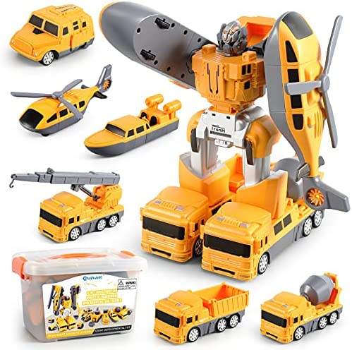 PicassoTiles 649pc Transformer Building Brick Construction Truck Vehicle Model 6-in-1 Robot STEM Learning Engineering Educational Block Toy Kit Kids Boys /& Girls Ages 6 Blocks Storage Box DIY Playset