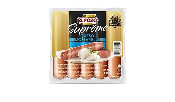 ElPozo Salchichas Supréme Queso Mozzarella - 180 gr: Amazon.es: Alimentación y bebidas