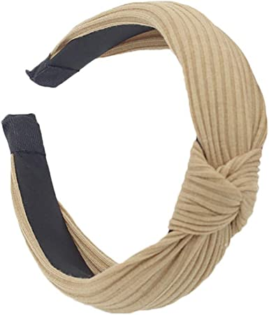 New Women Headband Twist Hairband Bow Knot Cross Cloth Headwrap Hair Band Hoop