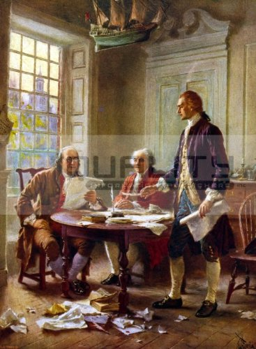 1780 Benjamin Franklin Portrait [10 x 15 - Invention Of Bifocals The