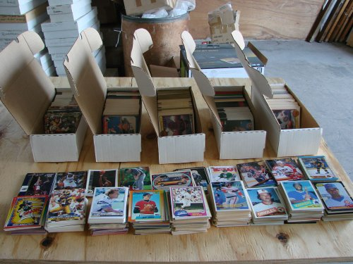 LOT OF 1,000 BASEBALL CARDS FROM 1987-2000 2000 Topps Collection