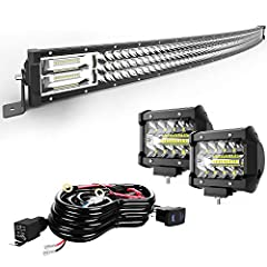TURBO SII TRI-ROW Spot Flood Combo Beam Light Bar                       If you're looking for the biggest, most powerful LED Light bars on the market,Then we are the best choice you need.         We are 32 inch, as well as 441...
