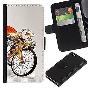 YiPhone /// Tirón de la caja Cartera de cuero con ranuras para tarjetas - Stormtrooper de bicicletas - Apple Iphone 6