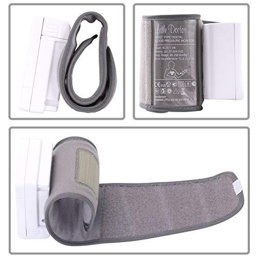 bakaji medidor de presión sanguínea Digital de pulsera tensiómetro Profesional Electrónico Automático con pantalla LCD y Gestión 2 Usuarios con 90 espacios ...