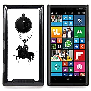 - Horse Black Knight Warrior Spear Robot Art Horns - - Snap-On Rugged Hard Cover Case Funny HouseFOR Nokia Lumia 830