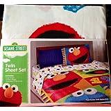 Sesame Street Cotton Rich 3 Piece Twin Sheet Set