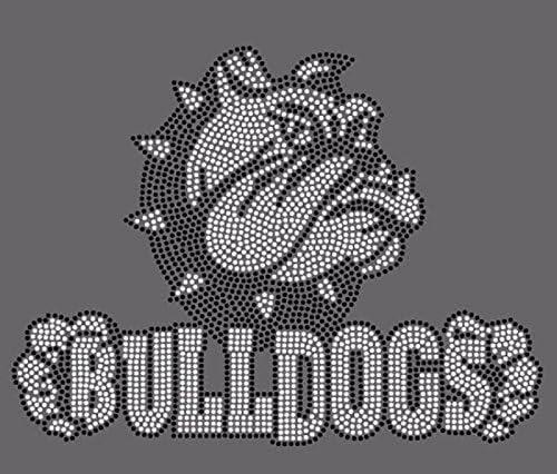 foto de Amazon.com: Bulldogs #44 Rhinestone Iron on Transfer