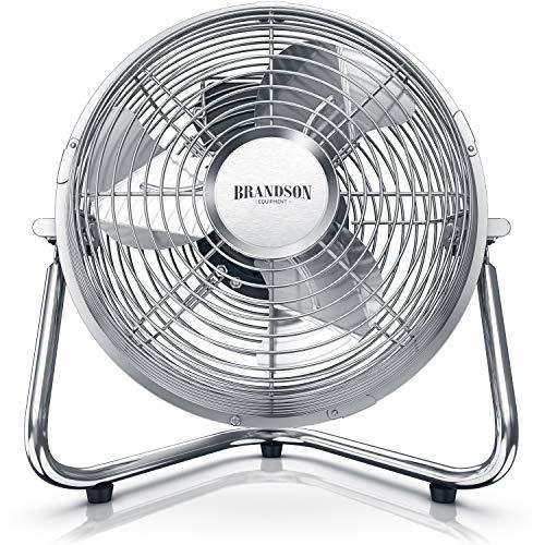 Brandson-Windmaschine-Retro-Stil-Ventilator-im-Chrom-Design-Standventilator-32-Watt-Tischventilator-hoher-Luftdurchsatz