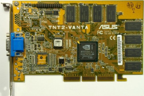 HP 5184-3942 8MB AGP Video Card TNT2-Vanta - Video 8mb Agp Card