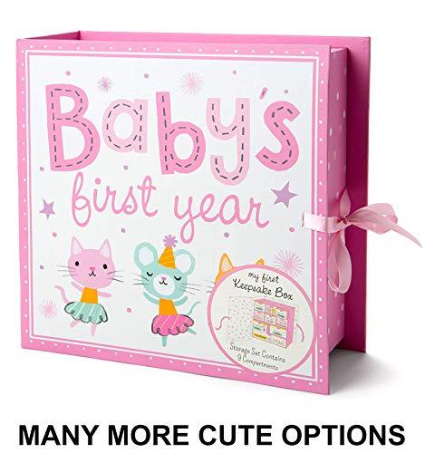 Baby Milestone Keepsake Storage Box: Track Treasured Memories - Baby's First Year