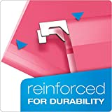 Pendaflex Reinforced Hanging Folders, Letter Size, Pink, 25 per Box (4152 1/5 PIN)