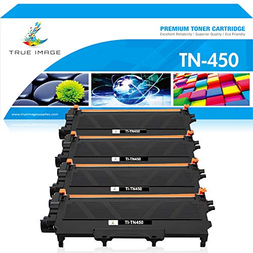 TRUE IMAGE Compatible Toner Cartridge Replacement for Brother TN450 TN-450 TN 420 TN-420 HL-2270DW Toner for Brother HL-2280DW HL-2270DW MFC-7860DW MFC 7360N HL-2240 HL 2280DW Toner Ink Printer Black