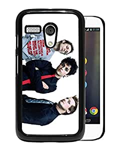 Fashionable Custom Designed Cover Case For Motorola Moto G With Green Day 2 Black Phone Case