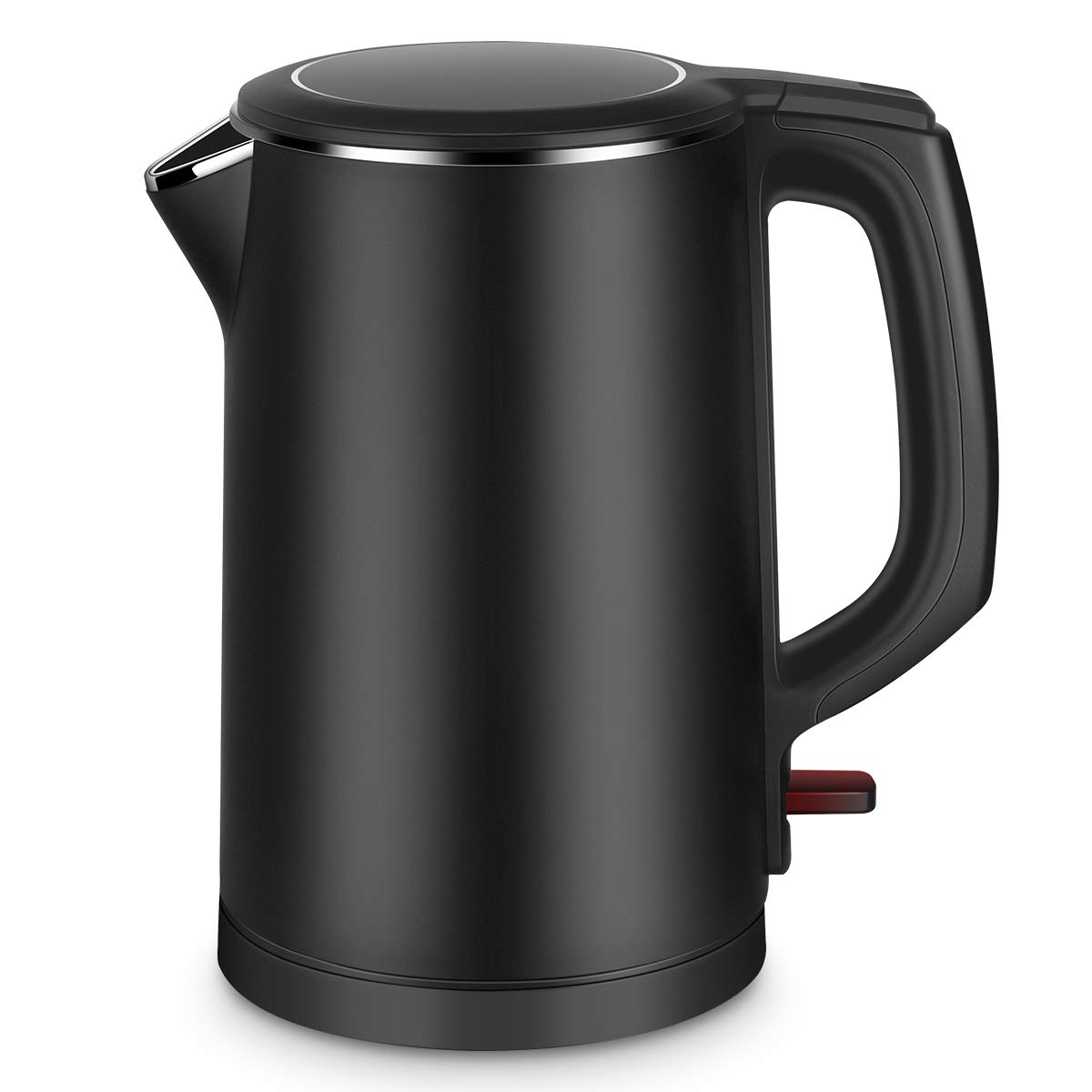 Electric Kettle, CUSIBOX 1.5L Stainless Steel Kettle Cool Touch Double Water Kettle with Overheating Protection, Boil Dry Protection and Automatic Shut Off