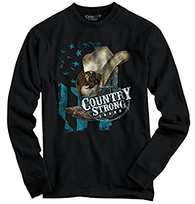 Country Strong Brand Hat Flag Cute Girl Sassy Dixie Gift Ideas Long Sleeve T-Shirt