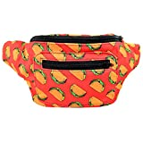 Taco Tuesday Fanny Pack, Mexican Boho Chic Handmade w/Hidden Pocket (Taco Pack)