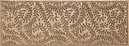 Bungalow Flooring Waterhog Indoor/Outdoor Runner Rug, 22 x 60 inches, Skid Resistant, Easy to Clean, Catches Water and Debris, Boxwood Collection, Khaki/Camel ()