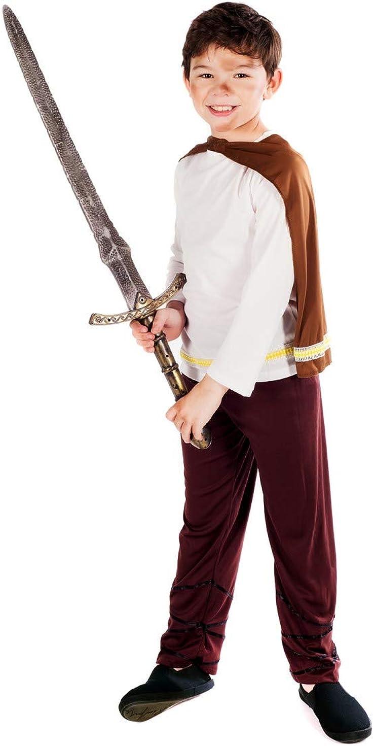 Kids Wild Viking Warrior Costume Boys Teen Medieval World Book Day Fancy Dress