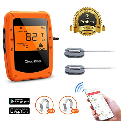 Beaspire Bluetooth Meat Thermometer for Grilling with APP ...