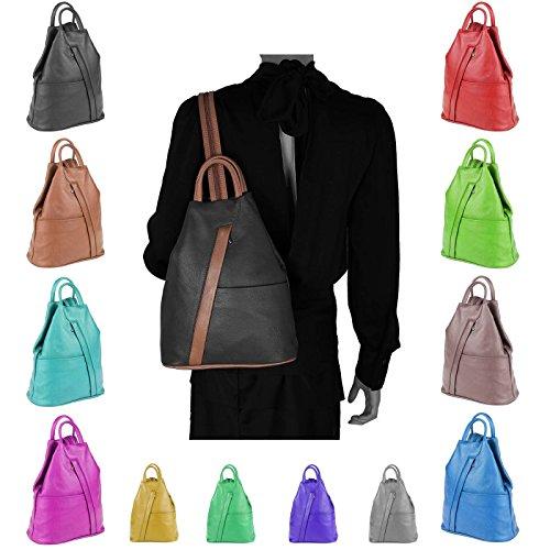 OBC Only-Beautiful-Couture - Bolso mochila  para mujer marrón marrón chocolate ca. 25x30x11 cm (BxHxT) schwarz-cognac