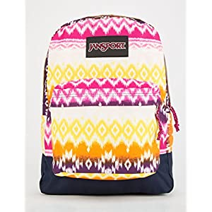 Jansport Black Label Superbreak Cyber Pink Tribal Ombre Backpack