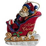 Los Angeles Angels of Anaheim Santa Sleigh Ornament