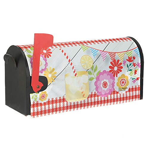 Topadorn Magnetic Mailbox Cover Makeover Post Box Décor with Summer Theme, Standard Size, Juice