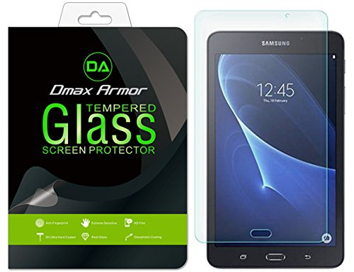 [2-Pack] Dmax Armor for Samsung Galaxy Tab A 7.0 inch/Galaxy Tab A Nook 7 inch Screen Protector, [Tempered Glass] 0.3mm 9H Hardness, Anti-Scratch, Anti-Fingerprint, Bubble Free, Ultra-Clear