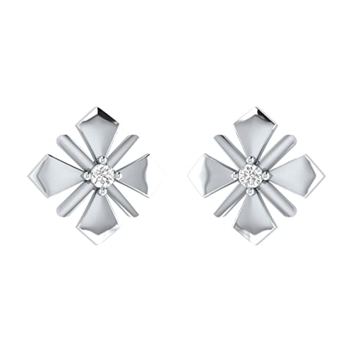 1de3eb617 Buy Diamond Real .925 Sterling Silver Small Stud Earrings For Womens  Certified Animas Jewels Jewelry Online at Low Prices in India   Amazon  Jewellery Store ...