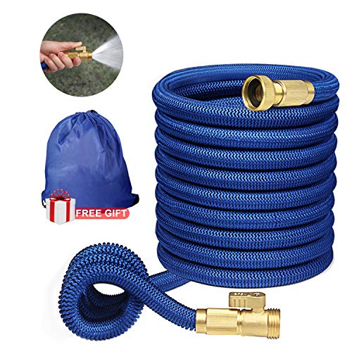 Garden Hose Water Hose Expandable Hose Pocket Flexible Hose Long Hoses Lightweight 50ft foot Expanding No Kink Quick Connect Compact Small Nozzle Gardening Best Garden Hose Expandable Garden Hose