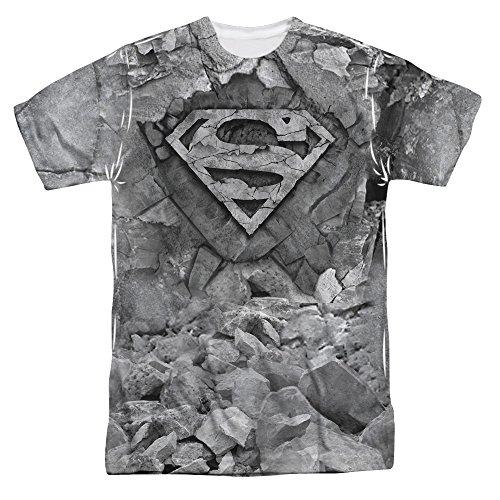 Superman DC Comics Superhero Rocky S Shield Logo Adult Front Print T-Shirt Tee