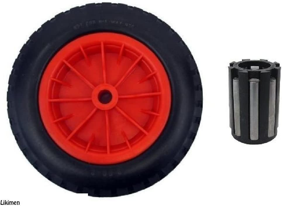 """PU 16/"""" METAL Puncture Proof SOLID Wheel Barrow Tyre 4.80-8 WITH 20MM BORE"""