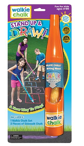Walkie Chalk Stand-Up Sidewalk Chalk Holder - Orange - Creative Outdoor Toy for Kids and Adults!