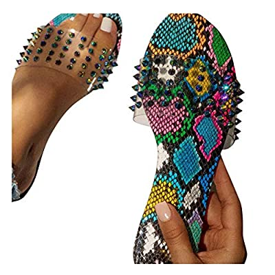 Sandals for Women Platform, Women's 2020 Rivets Comfy Flatform Sandal Shoes Summer Beach Travel Fashion Slipper Flip Flops: Clothing