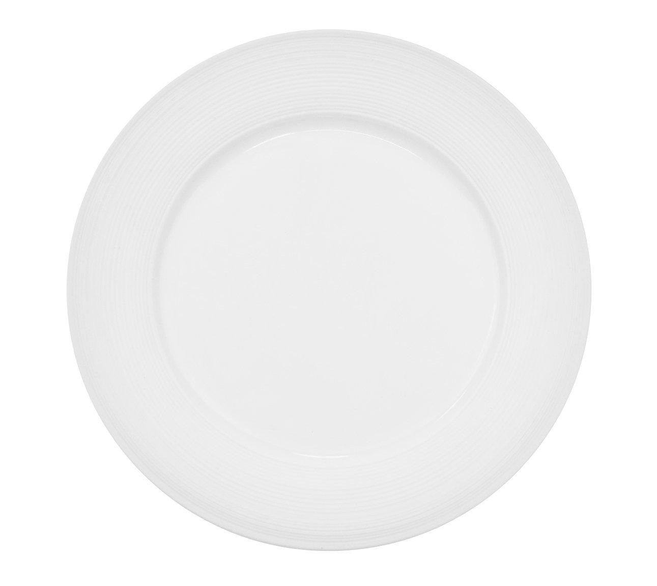 CAC China TST-7 Transitions 7-1/2-Inch Non-Glare Glaze Super White Porcelain Plate, Box of 36