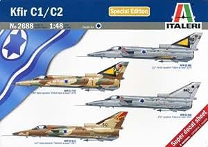 Italeri 2688S  - Kit de maquetas de aviones de guerra Kfir C1/C2 [Importado de Alemania]