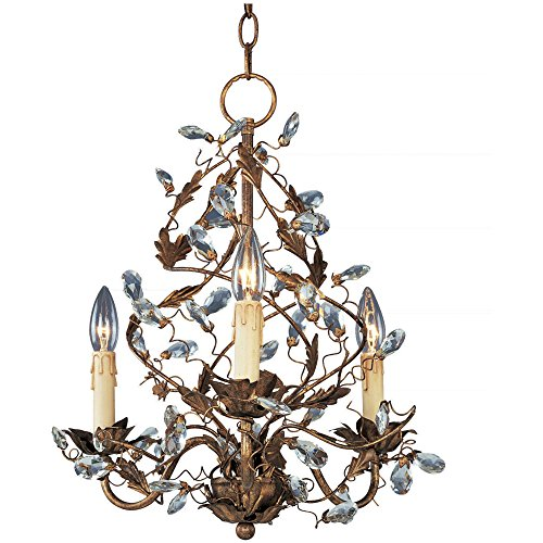 (Maxim Lighting 2850EG Elegante - Three Light Chandelier, Etruscan Gold Finish )